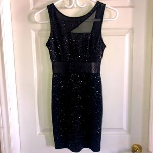Sparkly/mesh mini dress